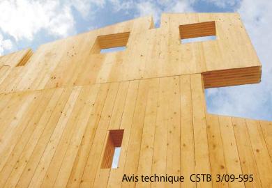 Tot 39 m mhm mur paroi en bois massif for Construction bois massif